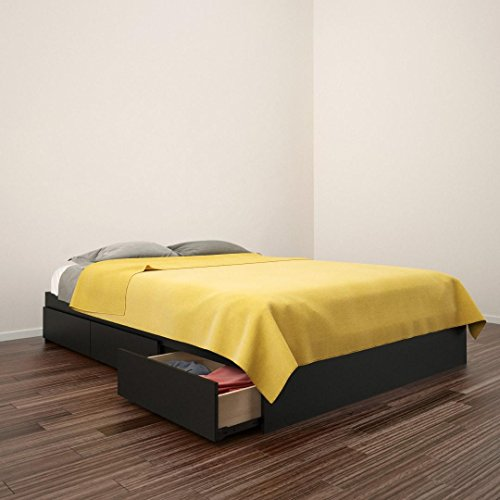 Avenue Full Size Storage Bed 225406 from Nexera, Black