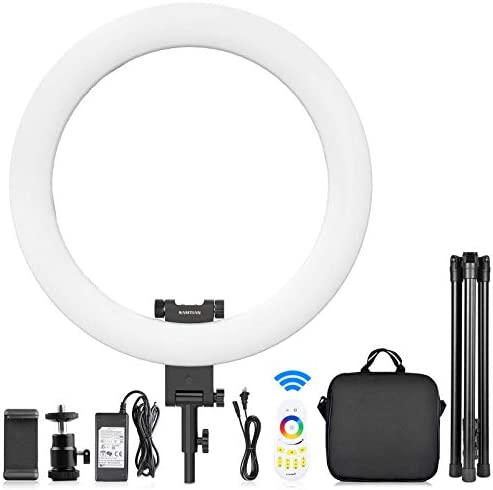 20 inch RGB Ring Light Kit, SAMTIAN Customize Mode Full Color Ring Light with Stand and Phone Holder through Wireless Remote/App Control for Makeup/YouTube/Tiktok/Video