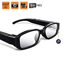 Toughsty MT-GL1100 8GB 1920x1080P HD Hidden Camera Glasses Mini Video Recorder with Audio Recording Function