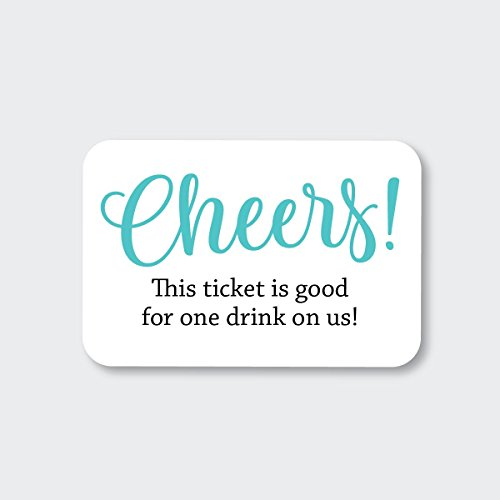 70ct Wedding, Birthday, Engagement Party and Other Event Cash Bar Drink Tickets (RR-145-AQ) ()