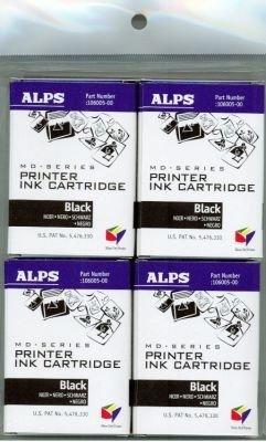 (Alps Black Ink Cartridge for MD-Series Printers (4-Pack, 106057-00))