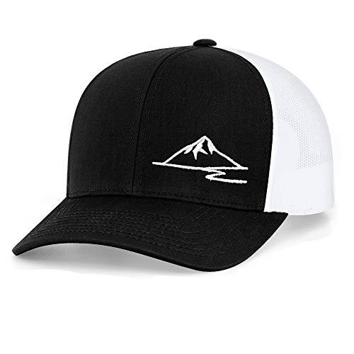 - Low Key Caps   Trucker Snapback - Mountain Black/White