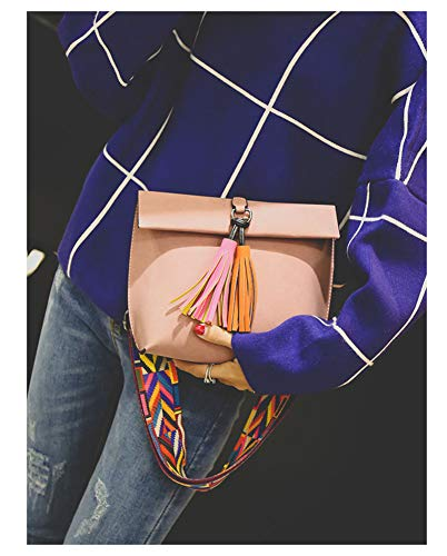 Fashion Tote Sacs Jaune Lady Supérieure Pu Leather Sac Bandoulière Main Rose À Poignée YYHrq