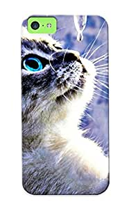 0a05eae859 Tpu Phone Case With Fashionable Look For Iphone 5c - Animals Cats Abstract Artistic Ice Cute Case For Christmas Day's Gift
