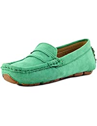 MOREMOO Girl's Boy's Suede Slip-on Loafers Shoes(Toddler/Little Kid/Big Kid)