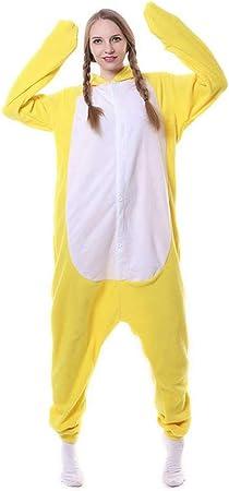 JIAWEIDAMAI Pato Amarillo Polar Mono Mono Kigurumi Pijamas ...