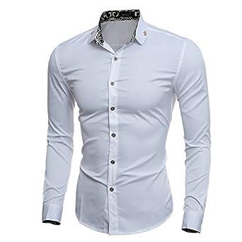 c66db7c049259 New 2017 Fashion Mens Hawaiian Shirts Male Short Sleeve Slim Fit Beach Floral  Shirt Men Business Casual Dress Shirt Camisa Homme  Amazon.in  Clothing    ...