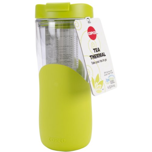 Copco 2510-9937 Tea Thermal Double Wall Tumbler with Removable Infuser, 14-Ounce, Green