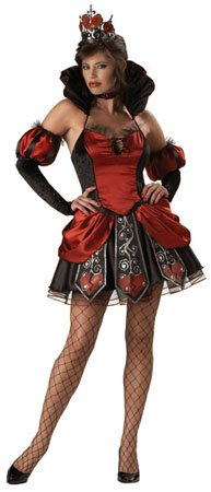 Queen Of Hearts From Alice In Wonderland (Queen of Broken Hearts Adult Costume - Medium)