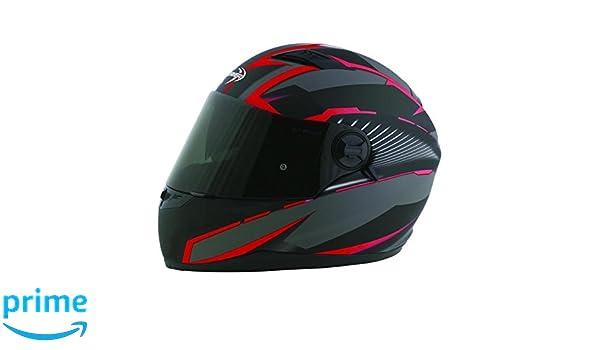 Amazon.es: Stormer casco integral Pusher Xenon rojo mate talla Déco rojo mate, talla S