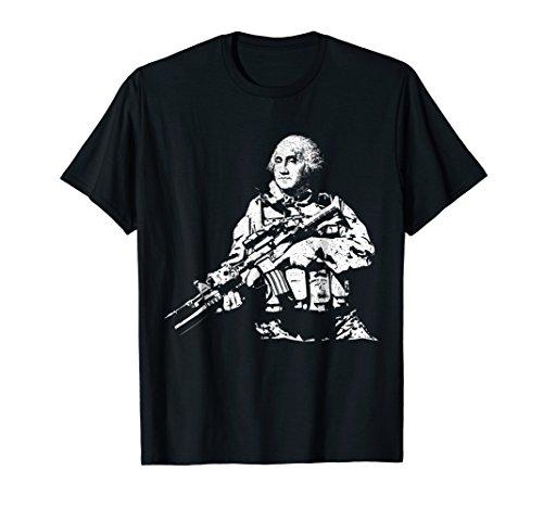 Presidential Commandos George Washington Funny Tactical Tee