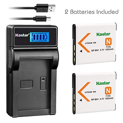 - Kastar Battery (X2) & Slim LCD USB Charger for Sony NP-BN1 NPBN1 BC-CSN and Cyber-Shot DSC-WX100 DSC-WX150 DSC-WX200 DSC-WX220 DSC-WX30 DSC-WX5 DSC-WX50 DSC-WX60 DSC-WX7 DSC-WX70 DSC-WX80 DSC-WX9