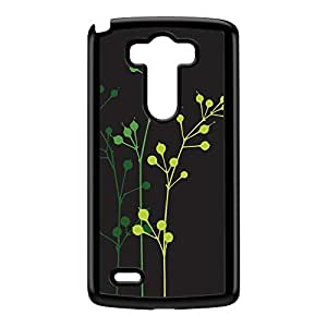 Flowerbuds Grey Black Hard Plastic Case for LG G3 by Gadget Glamour + FREE Crystal Clear Screen Protector