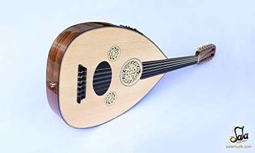 Turkish Professional Half Cut Electric Oud Ud String Instrument OUDE #4