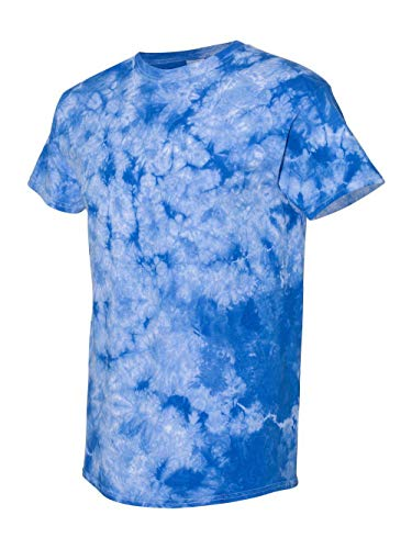 Gildan Tie Dye T-Shirt 83 Crewneck Men's Crystal Tie-Dye Tee S Crystal Royal