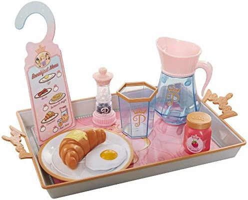 Disney Princess Style Collection Room Service Pretend Play Toy Set -Serving Tray Plate Cover Pitcher & More for A Great Pretend Travel Experience - Girls Ages 3+