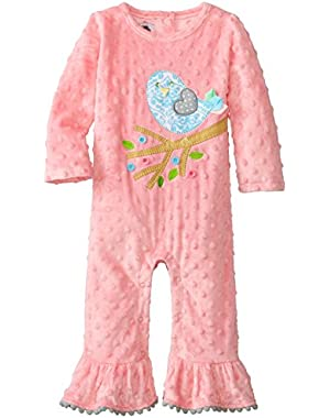 Baby Girls' Chick Minky One Piece