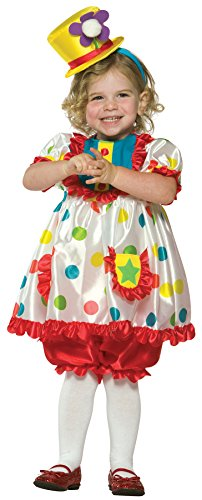 UHC Girl's Colorful Clown Funny Theme Fancy Dress Toddler Halloween Costume, Toddler (Colorful Clown Toddler Costumes)