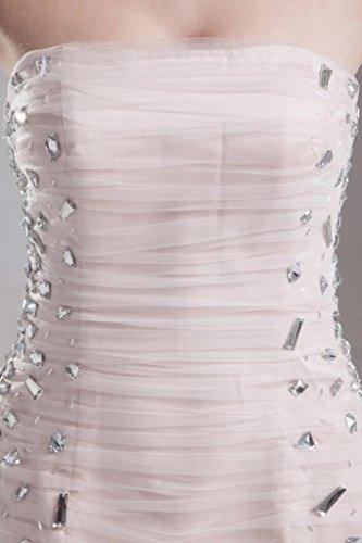mit Traegerlos Kristallperlen BRIDE duenne ROSA kurze GEORGE Kleid Perle tqEwd5x