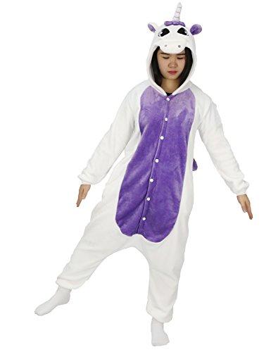 Très Chic Mailanda Adult Onesie Unicorn For Women Men Pajamas Animal Cosplay Halloween Costume Cute Sleepwear (XL For height 71