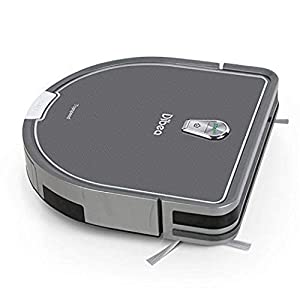 Dibea Robot Vacuum Cleaner Mopping Water Tank, 1200pa High Suction, Self-Charging Drop-Sensing Robotic Vacuum Pet Hair Hard Floor DT966