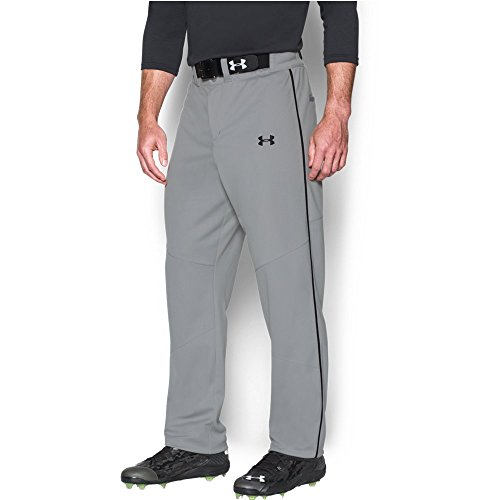 Under Armour Men's New Leadoff Piped Pants, Medium, Baseball Gray Under Armour Baseball Pants