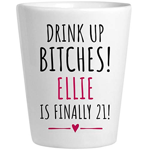 Ellie 21st Birthday Gift: Ceramic Shot -