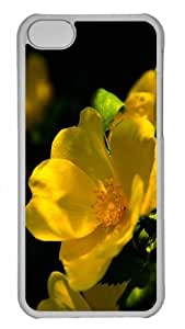 Customized iphone 5C PC Transparent Case - Flower 57 Personalized Cover by mcsharks