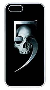 iPhone 5 5S Case Skull 5 Funny Lovely Best Cool Customize iPhone 5S Cover White