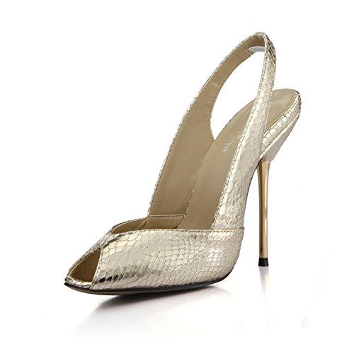primavera zapatos cena pez enrejados con sexy con Negro de hierro que fueron de solteras de puerto Mujeres ZHZNVX piel nuevos boca luz vacío zapatos de de serpiente 1vxXppw