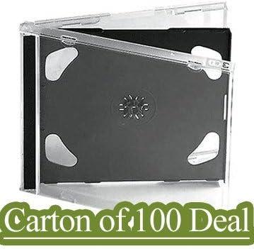 100 x Generic – Estuche transparente doble para CD, DVD y BD (– 100 unidades: Amazon.es: Electrónica