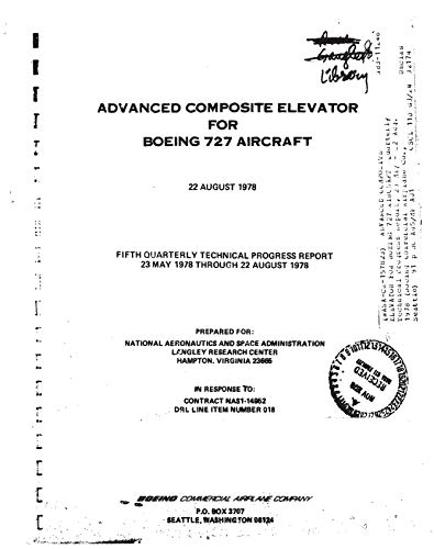 Advanced composite elevator for Boeing 727 - 727 Aircraft Boeing