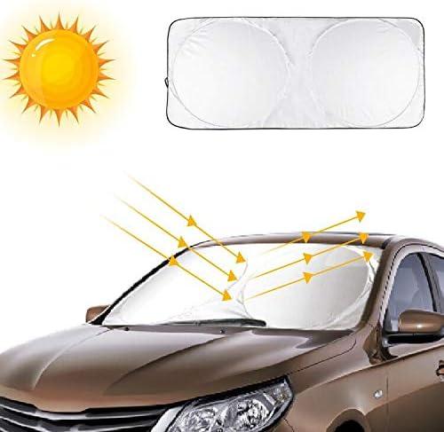 opamoo Parasol Coche delantero Parasol para Parabrisa Plegable Universal Protector Solar Coche Anti UV Rayos F/ácil instalaci/ón Coche Sol Sombra Apto a la Mayor/ía de Coches y SUV 150 * 70cm