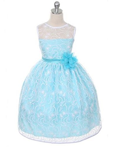 Buy light blue and white bridesmaid dresses - 8