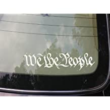 "We the People Decal Vinyl 6"" Sticker 2a Second Amendment Car Window Laptop Obama *A026*"