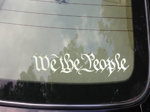 We the People Decal Vinyl 6