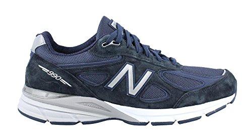 New Balance Heren 990v4 Hardloopschoen Donkerblauw / Zwart