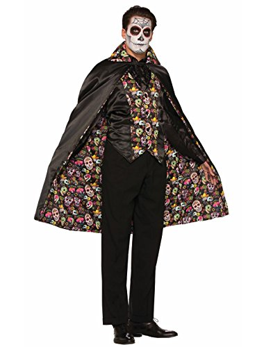 Day Of Dead Cape (Forum Men's Day Of The Dead Cape, Multi, One Size)