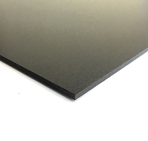 Expanded PVC Sheet  Lightweight Rigid Foam  6mm (1/4Inch)  12 x 12 Inches  Black  Ideal for Signage, Displays, and Digital/Screen Printing