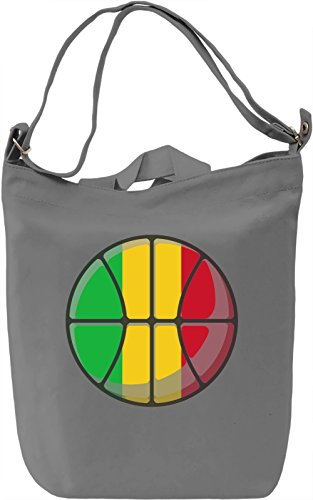 Mali Basketball Borsa Giornaliera Canvas Canvas Day Bag| 100% Premium Cotton Canvas| DTG Printing|