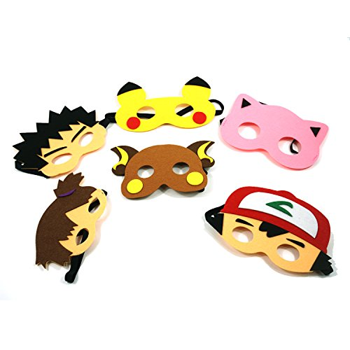 JT Party Superhero Pokemon Party Masks for Childrens Birthdays and Holidays