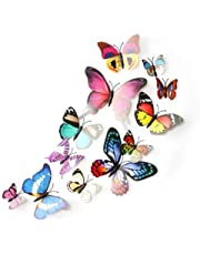 12pcs Colorful 3D Butterfly Decal Wall Stickers Home Decorations