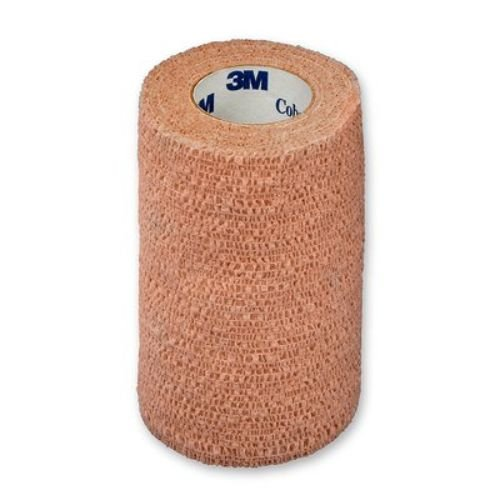 3M Health Care 1584S Self-Adherent Wrap, Sterile, 4'' x 5 yd. Size, Tan (Pack of 18)
