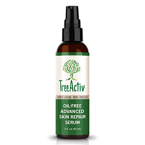 TreeActiv Oil-Free Advanced Skin Repair Serum | Hyaluronic Acid | Anti-Wrinkle | Anti Aging | Scar Gel | Revitalize Face and Skin | Collagen Booster | Healthy Natural Moisturizer | 2 fl oz.