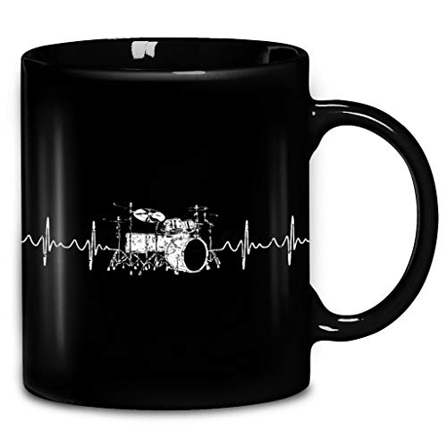 Drum Heartbeat Drumkit Drummer Coffee Mug 11oz & 15oz Ceramic Tea Cups
