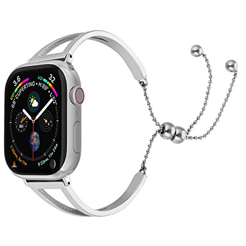 EzBand Bling Bands Compatible Apple Watch Band38mm40mm, 2019 Fancy Jewelry Bangle Cuff Adjustable Stainless Steel iWacth Bands Womens 4/3/2/1/Nike+/Sport Pendant - Jewelry Bangles Trendy