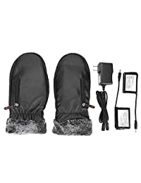 1 Pair Heated Gloves, Battery Heated Work Gloves Winter Ski Mittens for Winter Outdoor Hiking Hunting Cycling Skiing