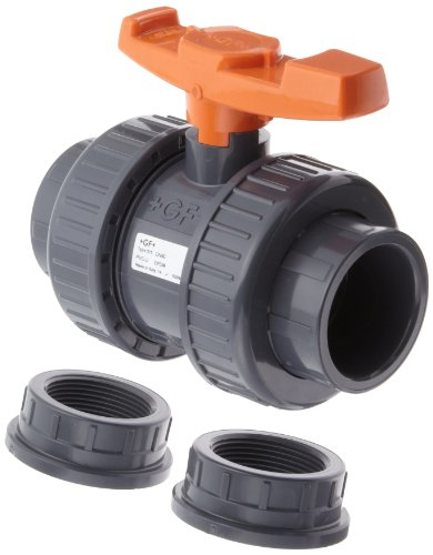 C True Union Ball Valve with Full Port, Two Piece, PTFE Seat, EPDM Seal, 1-1/2