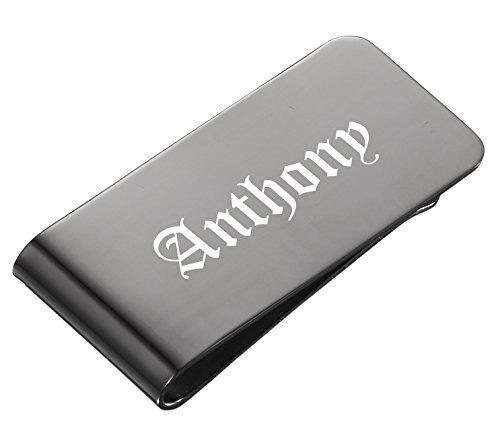 Personalized Visol Holmes Gun Metal Money Clip with Free Engraving by Visol