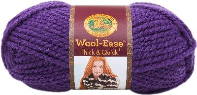 Lion Brand Yarn Wool-Ease Thick & Quick Hometown Yarn, Quick, Iris
